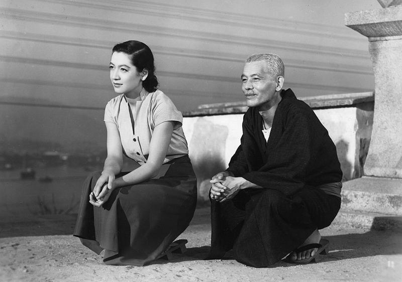 """Setsuko Hara und Ryū Chishū in """"Tokyo_Monogatari""""_(Die Reise nach Tokyo) von 1953"""